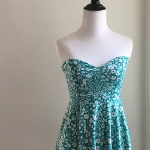 Pins and needles bare tube top strapless dress S